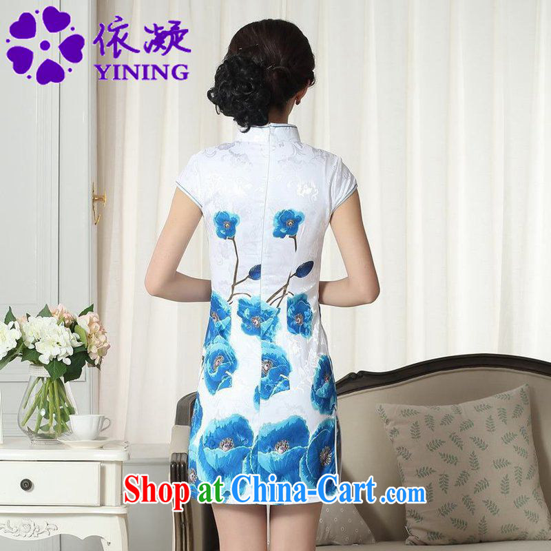 According to fuser new female Chinese improved cheongsam dress lady stylish jacquard cotton cultivation short Chinese qipao dress LGD/D #0292 figure 2 XL, fuser, and shopping on the Internet
