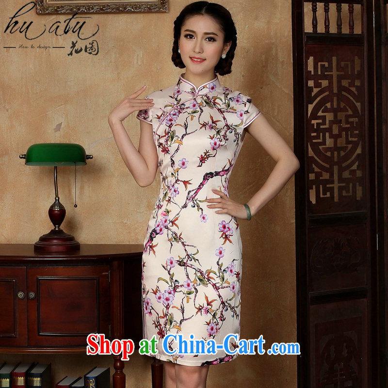 spend the summer new female cheongsam Chinese daily improved emulation, the collar is tight short dresses such as the color 2 XL