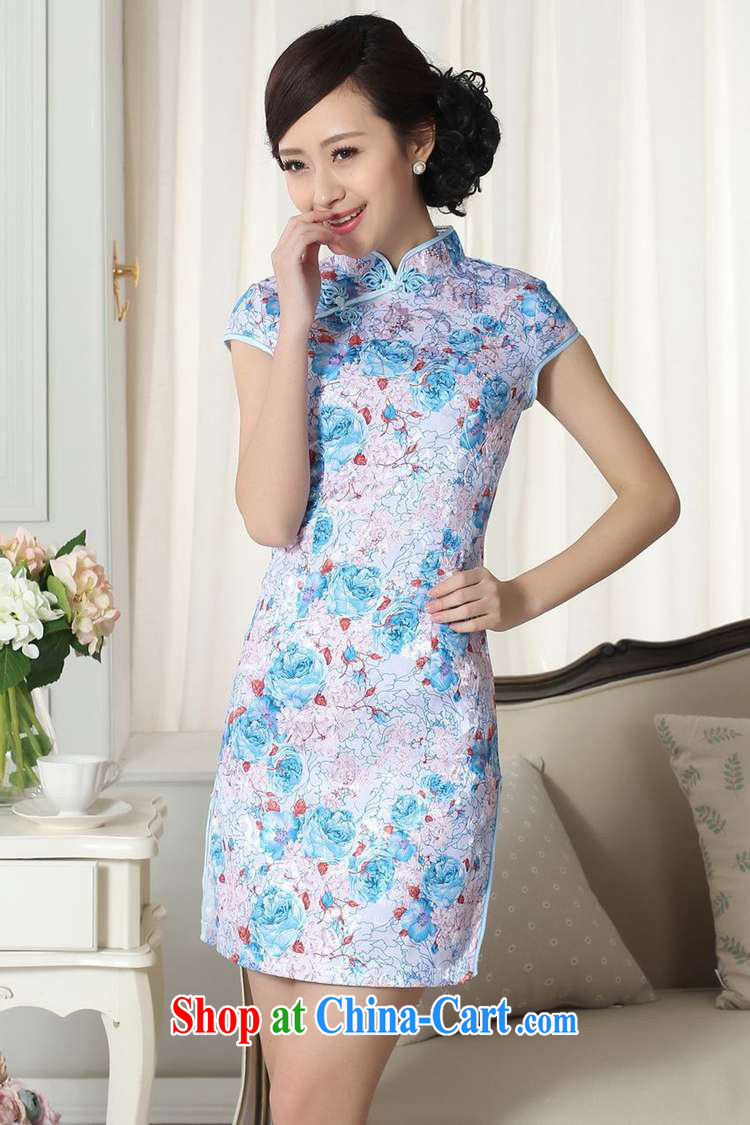According to fuser new female Ethnic Wind improved Chinese qipao dress is a tight beauty short Chinese qipao dress LGD/D #0291 figure 2 XL pictures, price, brand platters! Elections are good character, the national distribution, so why buy now enjoy more preferential! Health