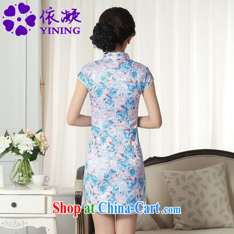 According to fuser new female Ethnic Wind improved Chinese qipao dress is a tight beauty short Chinese qipao dress LGD/D #0291 figure 2 XL, fuser, and shopping on the Internet