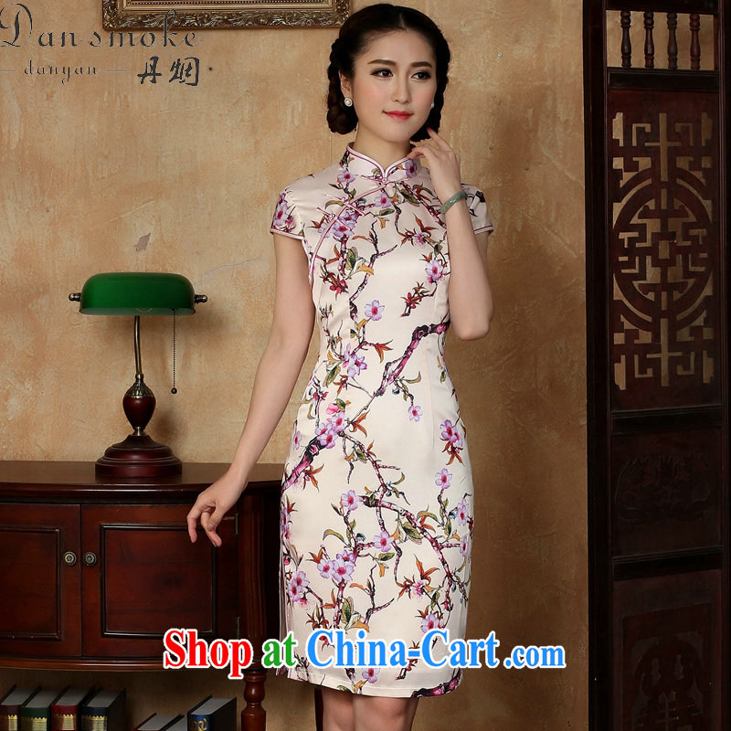 Dan smoke summer new female qipao Chinese daily improved emulation, the collar is tight short dresses such as the color 2 XL