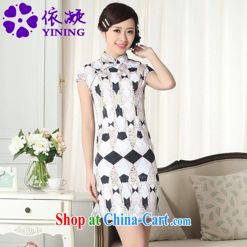 According to fuser new female retro improved Chinese daily dresses elegance beauty short Chinese qipao dress LGD_D _0278 figure 2 XL