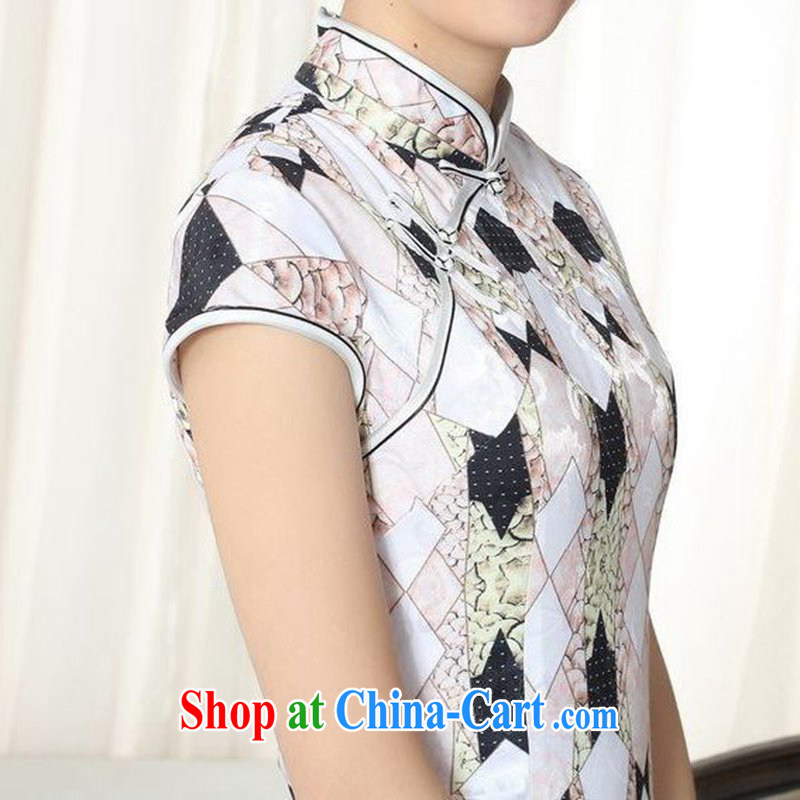 According to fuser new female retro improved Chinese daily dresses elegance beauty, short Chinese qipao dress LGD/D #0278 figure 2 XL, fuser, and shopping on the Internet