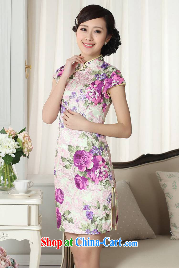 According to fuser summer stylish new female Ethnic Wind improved qipao, for a tight Classic tray port cultivating Chinese cheongsam dress LGD/D #0279 figure 2 XL pictures, price, brand platters! Elections are good character, the national distribution, so why buy now enjoy more preferential! Health