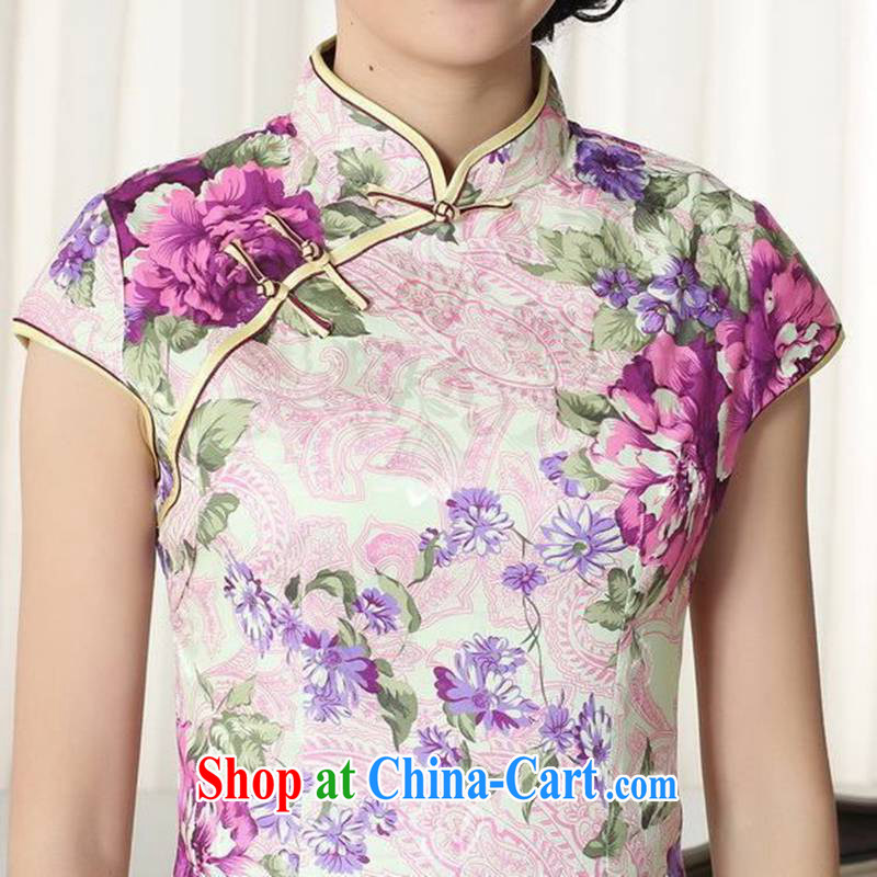 According to fuser summer stylish new female Ethnic Wind improved qipao, for a tight Classic tray port cultivating Chinese cheongsam dress LGD/D #0279 figure 2 XL, fuser, and shopping on the Internet