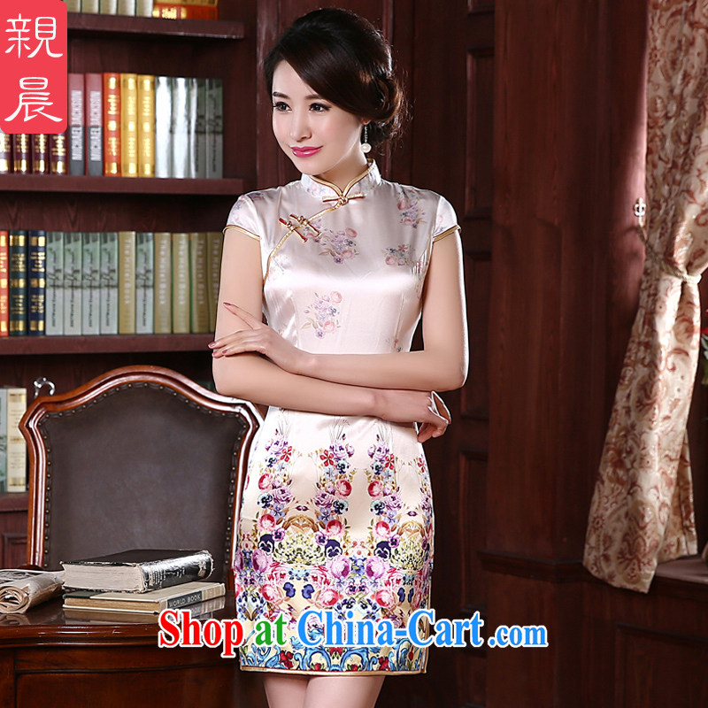 pro-am 2015 new day spring and summer sauna silk stylish improved short silk upscale antique dresses beauty short M - 10 day shipping