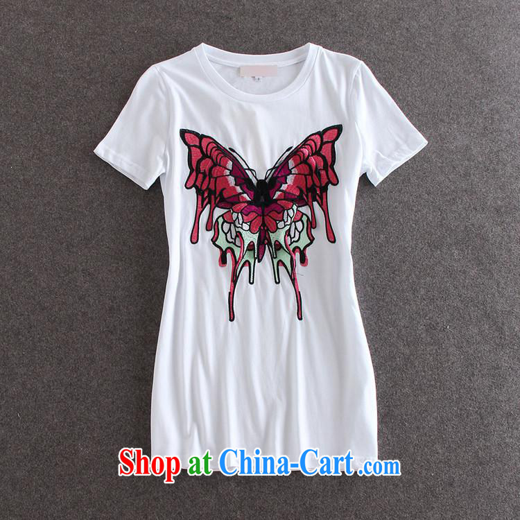 Black butterfly style women embroidery butterfly pattern round-collar short-sleeve, long T pension summer female burglary, 30,151 Y black L pictures, price, brand platters! Elections are good character, the national distribution, so why buy now enjoy more preferential! Health
