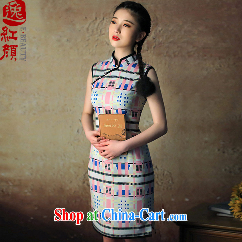 proverbial hero once and for all Hong Kong Pavilion new cheongsam dress and elegant 2015 summer cheongsam dress improved stylish floral beauty XL