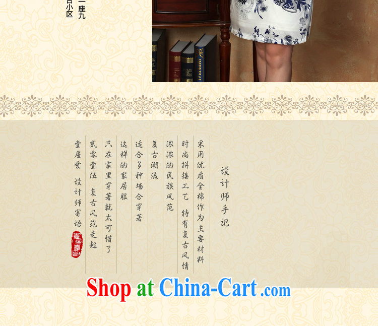 Dan smoke summer new dress robes silk Chinese improved, for blue and white porcelain, silk and comfortable short cheongsam dress in figure 3XL pictures, price, brand platters! Elections are good character, the national distribution, so why buy now enjoy more preferential! Health