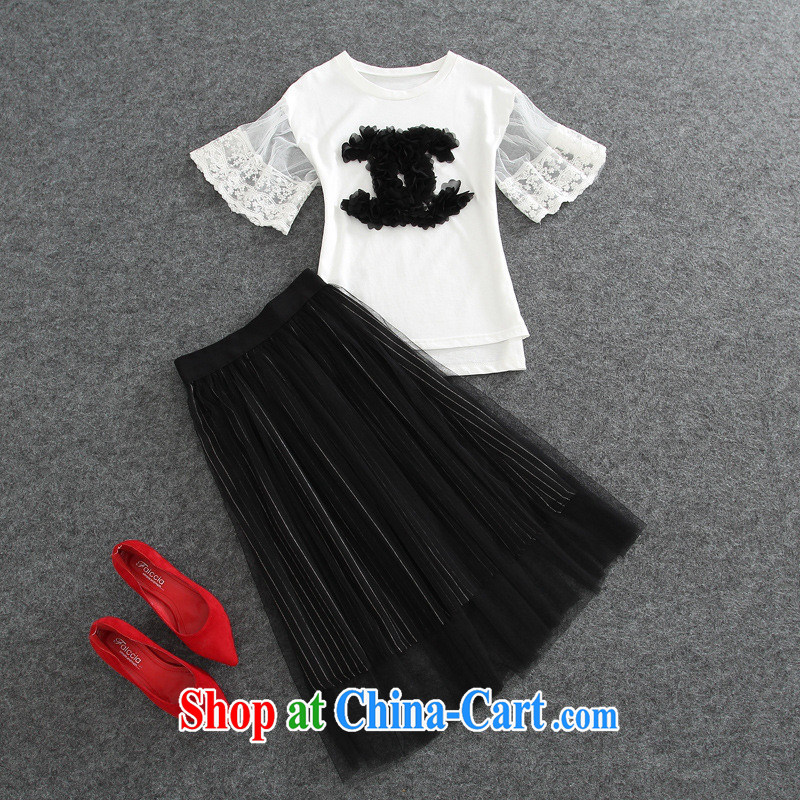 hamilton 2015 summer new stylish stars with pure cotton T + cultivating Web dress picture color L