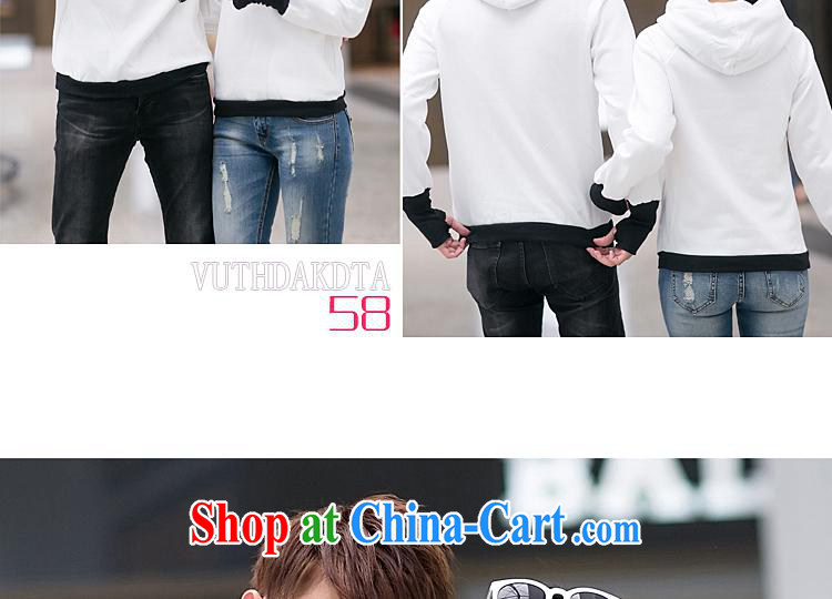 Qin Qing store for couples with autumn and the New Korean trend cartoon couples sweater men's women's coats white coat red sleeveless men XL pictures, price, brand platters! Elections are good character, the national distribution, so why buy now enjoy more preferential! Health