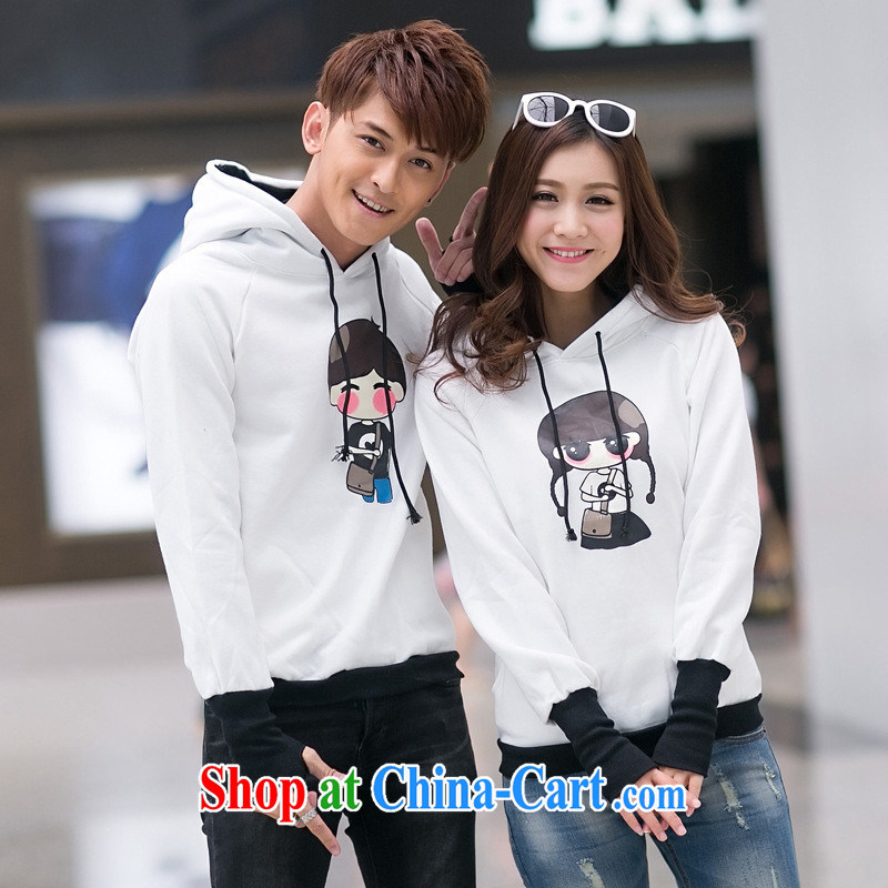 Qin Qing store for couples with autumn and the New Korean trend cartoon couples sweater men's clothing women's coats White Red Sleeveless Men XL, GENYARD, shopping on the Internet