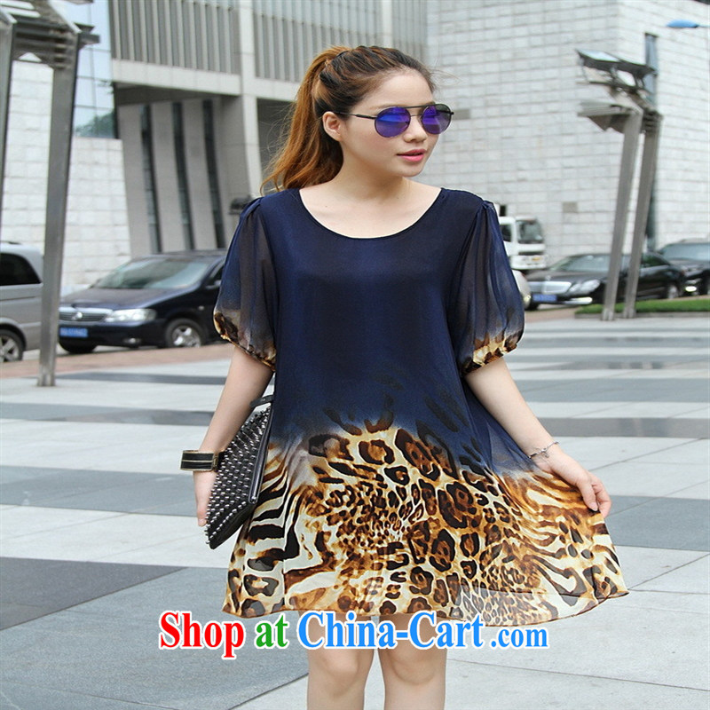 Qin Qing store _real-time a large code dress spring New Europe, long, thick mm loose in snow cuff woven dresses dark blue large code L