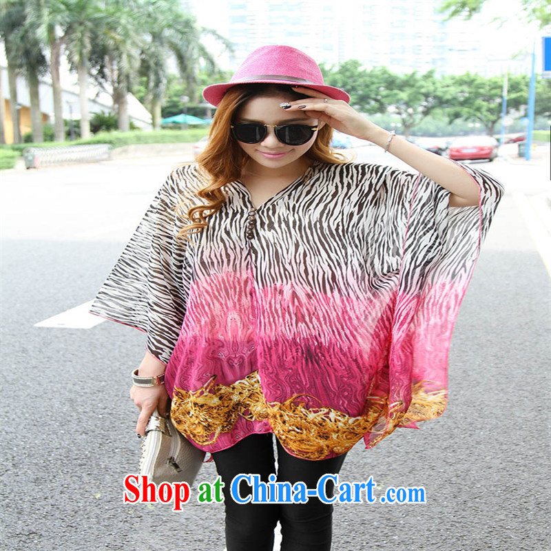 Qin Qing store real-time a pregnant women - New V collar styling suits the code snow woven shirts of red code XL