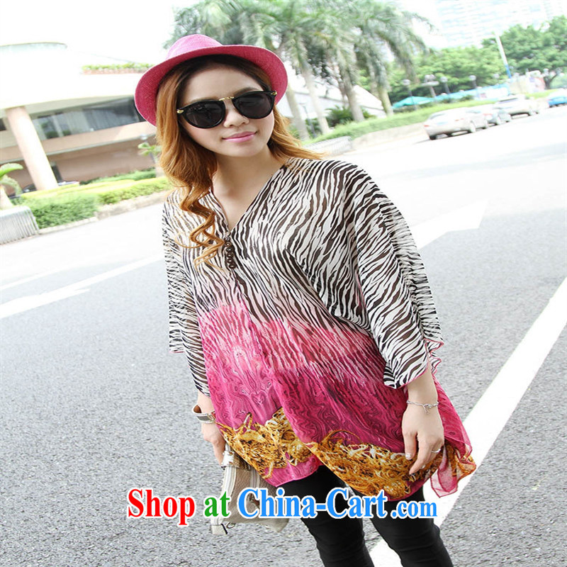 Qin Qing store real-time a pregnant women - New V collar styling suits the code snow woven shirts of red code XL, GENYARD, shopping on the Internet