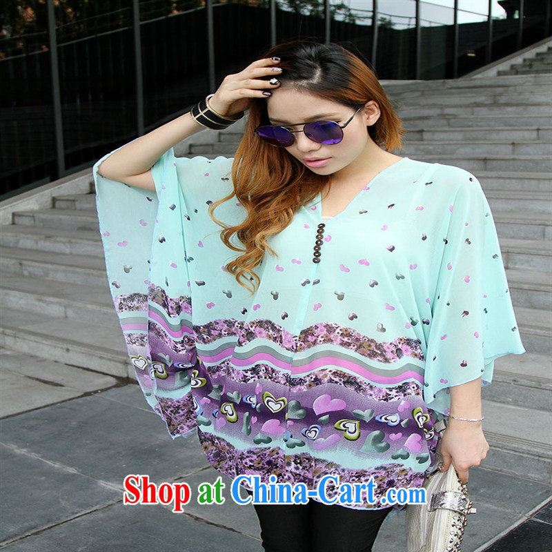 Qin Qing store real-time shot pregnant women - New V collar styling suits the code snow woven T-shirt purple large code XL
