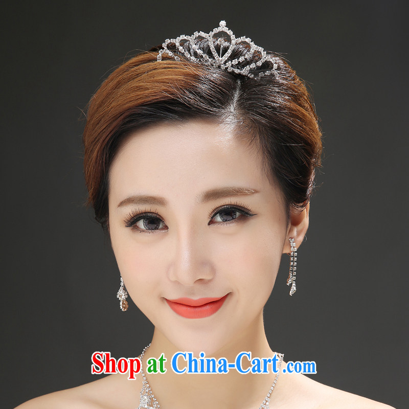 Bridal parquet drill Crown bridal headdress silver are code