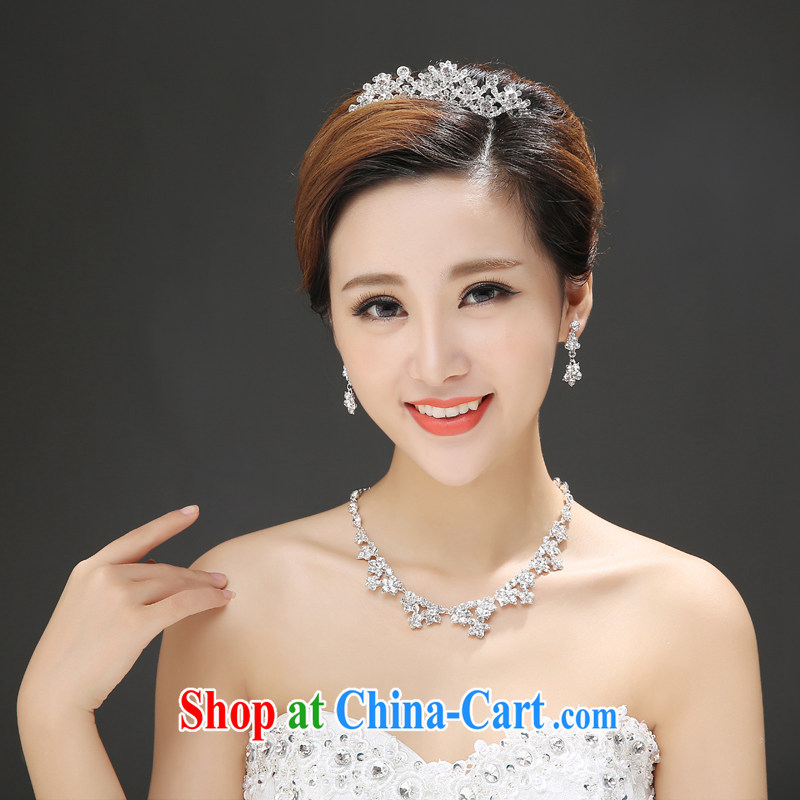 The color is still Windsor wedding dresses accessories Crown accessories necklace Crown ear fall 3-Piece silver are code