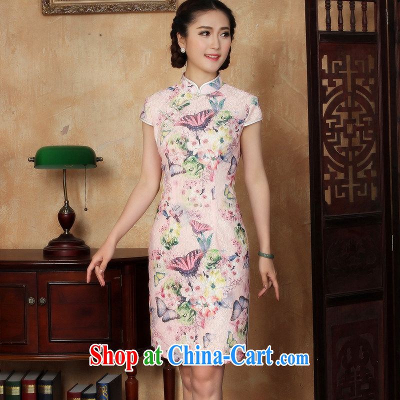 The Yee-Windsor ballet flick 2015 new female ethnic wind cheongsam dress improved cheongsam everyday lace cheongsam dress Y L L 5127