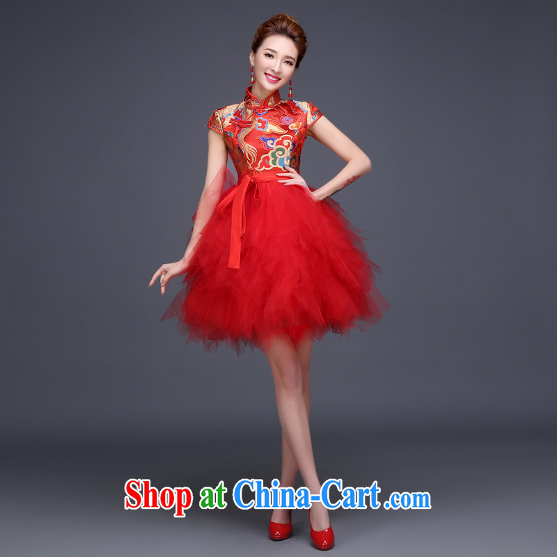 Toast clothing 2015 new spring bridal dresses dresses dresses, short red wedding dresses summer female shaggy dress short-sleeved dresses red tailored 30