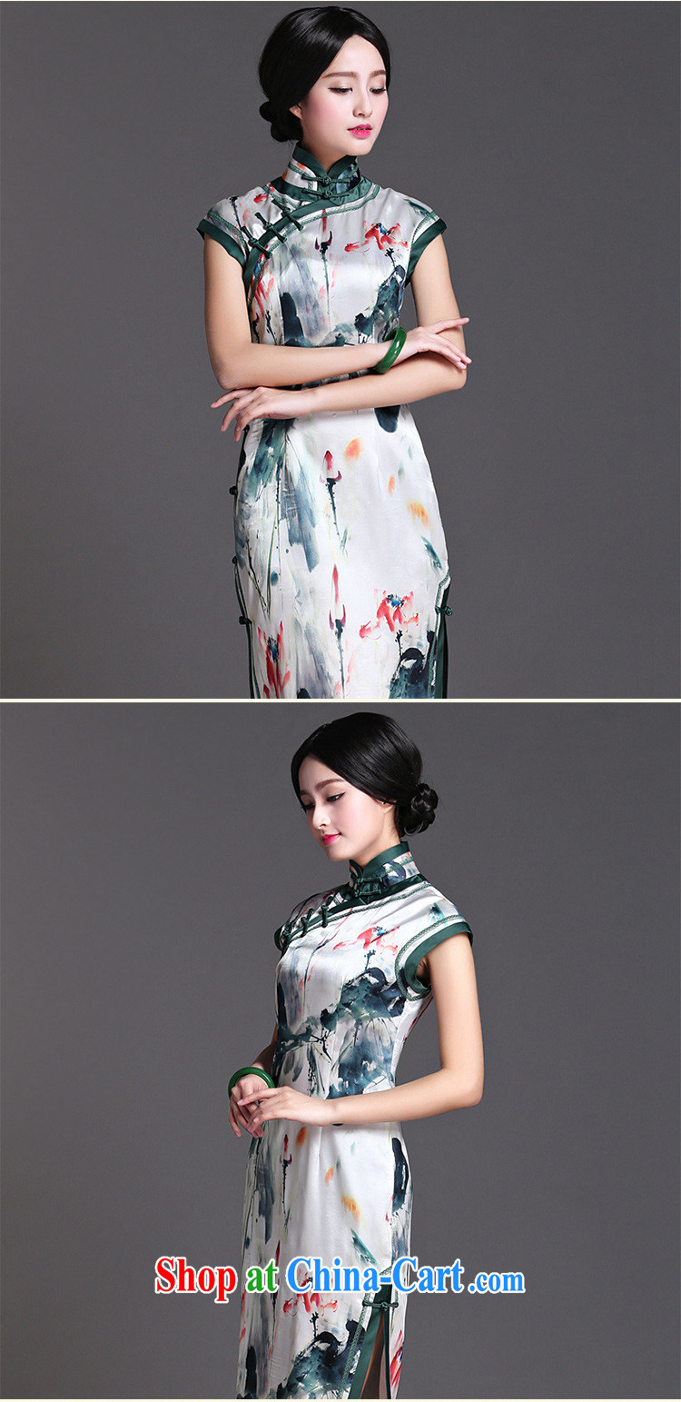 She made the 2015 summer new daily temperament cheongsam dress light gray XXL pictures, price, brand platters! Elections are good character, the national distribution, so why buy now enjoy more preferential! Health