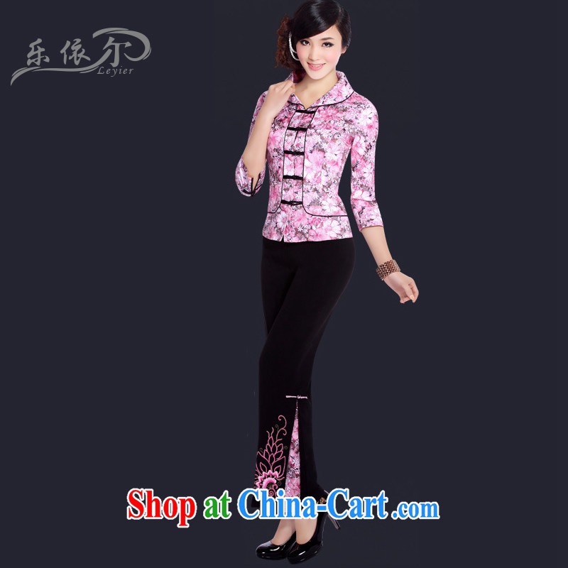 And, in accordance with modern improved small Tang 7 sub-cuff short daily retro Tang women LYE 021 pink package S
