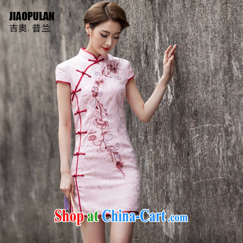 Mr. Kaplan 2015 spring and summer new, Ms. little Chinese Antique improved stylish short beauty etiquette daily outfit PL 1124 pink L