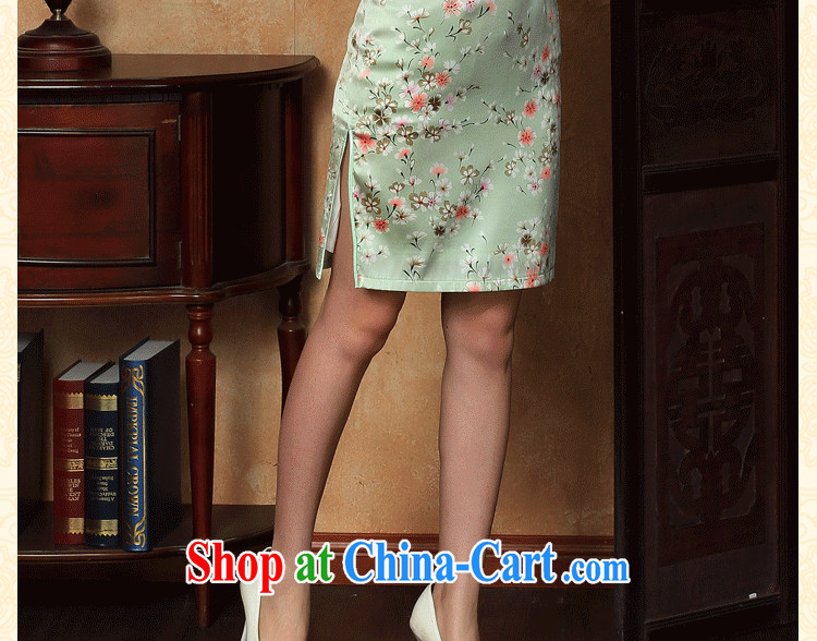 Bin Laden smoke-free summer cheongsam dress new Chinese improved light up collar silk Phillips sauna silk short cheongsam dress figure-color 2 XL pictures, price, brand platters! Elections are good character, the national distribution, so why buy now enjoy more preferential! Health