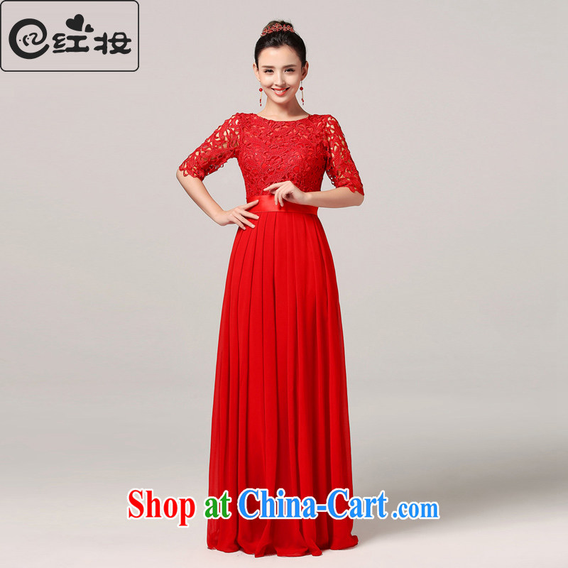 Recall that Namibia Red Cross marriages 7 cuff spring warm long stylish retro toast serving red outfit Korean Q 15,031 red XL