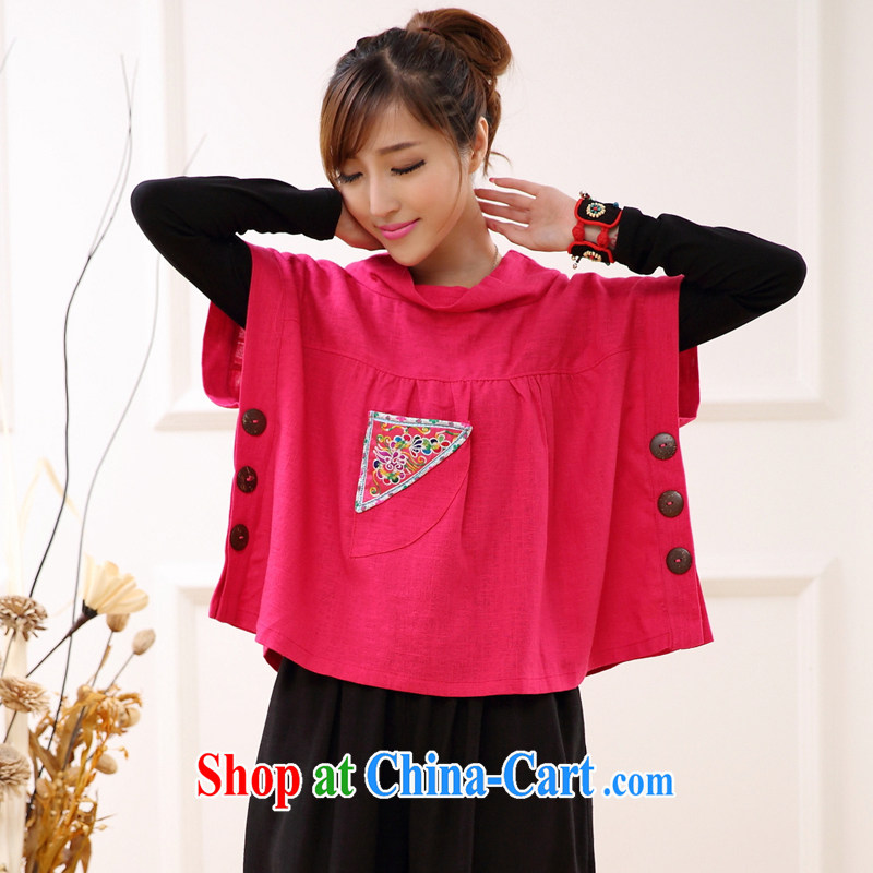 Spring New and Improved Chinese Tang women put embroidered retro Ethnic Wind Jacket white are code