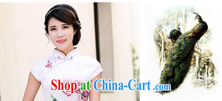 Jin Bai Lai girls summer 2015 Korean Ladies short-sleeve stamp package and improved cheongsam dress high-end style retro Beauty Fashion dresses 4 XL pictures, price, brand platters! Elections are good character, the national distribution, so why buy now enjoy more preferential! Health