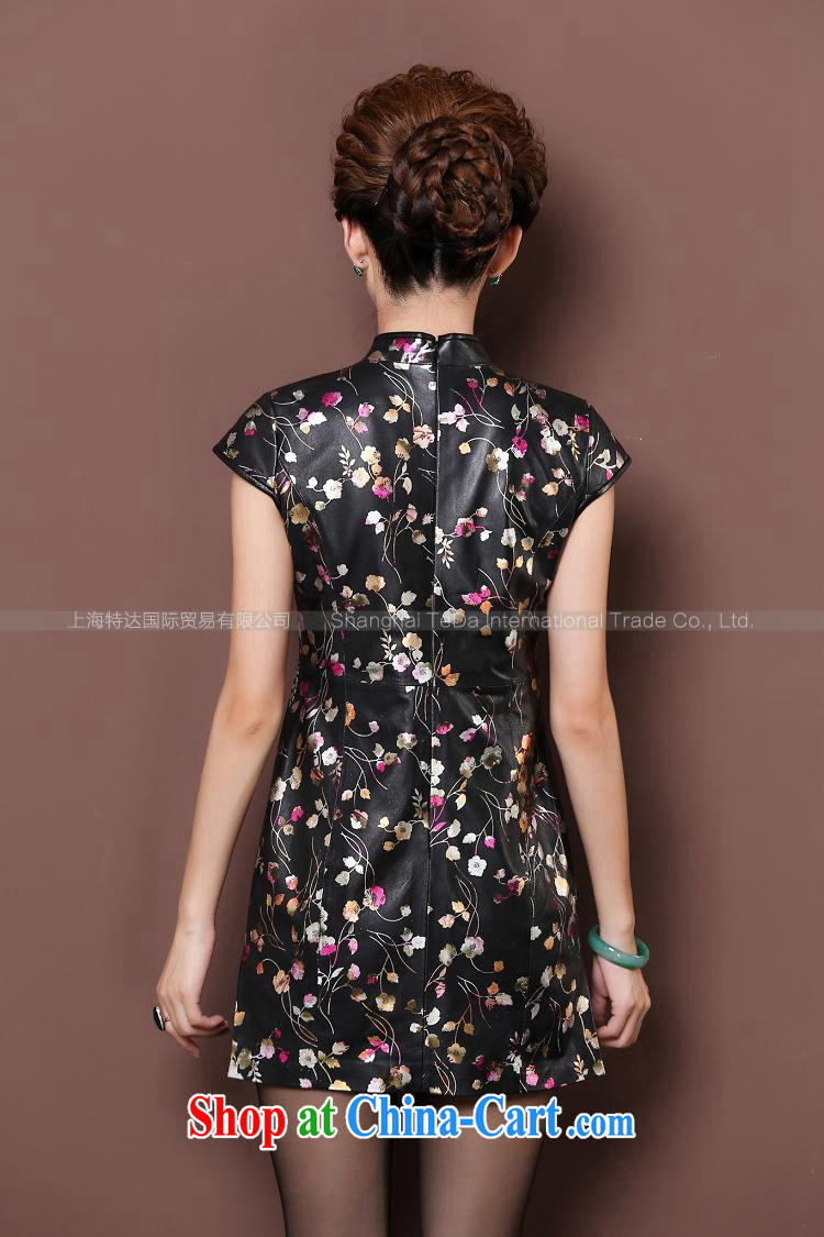 100 birds, spring and autumn 2015 new imported fur elegant style evening gown half sleeve uniform toast Haining leather retro improved cheongsam dresses everyday floral XXXL pictures, price, brand platters! Elections are good character, the national distribution, so why buy now enjoy more preferential! Health