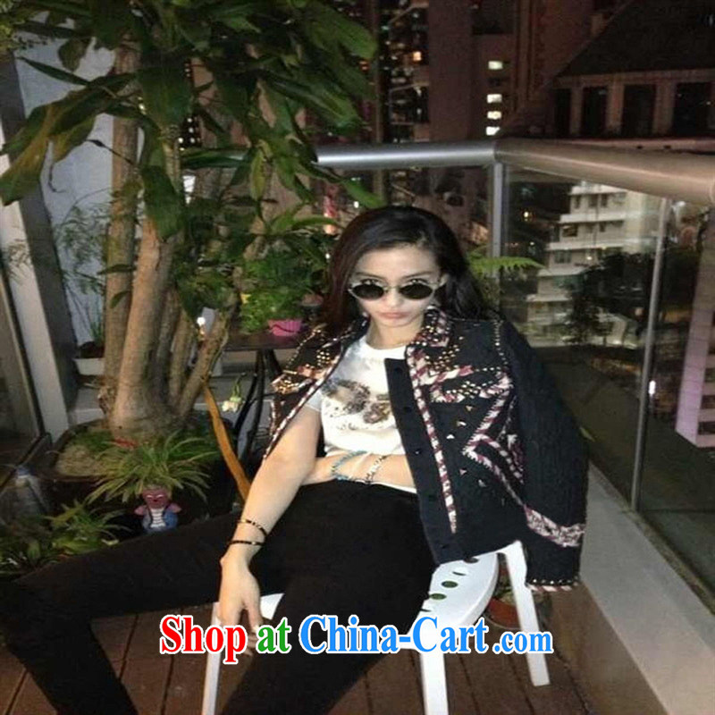 The European site female kaki Su-Ching-ching and stylish 100 ground in English letters Satin stamp duty round-collar short-sleeve shirt T black L, health concerns (Rvie .), and, on-line shopping