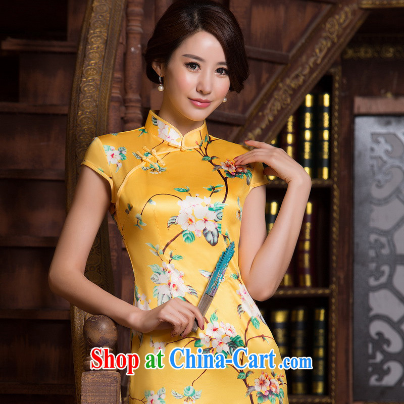 The cross-sectoral, Elizabeth dull new cheongsam improved summer retro Beauty Fashion cheongsam dress ZA M 067