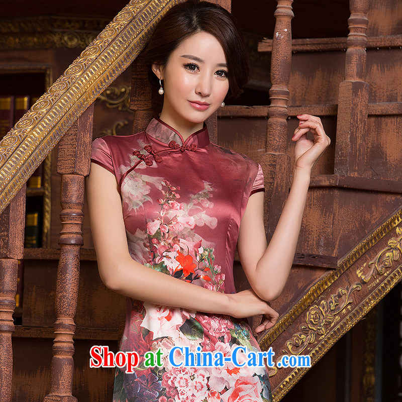 The cross-sectoral Nathan Windsor by 2015 to ensure daily goods improved national wind female short-sleeve retro cultivating Chinese qipao dress short-sleeved ZA S 069