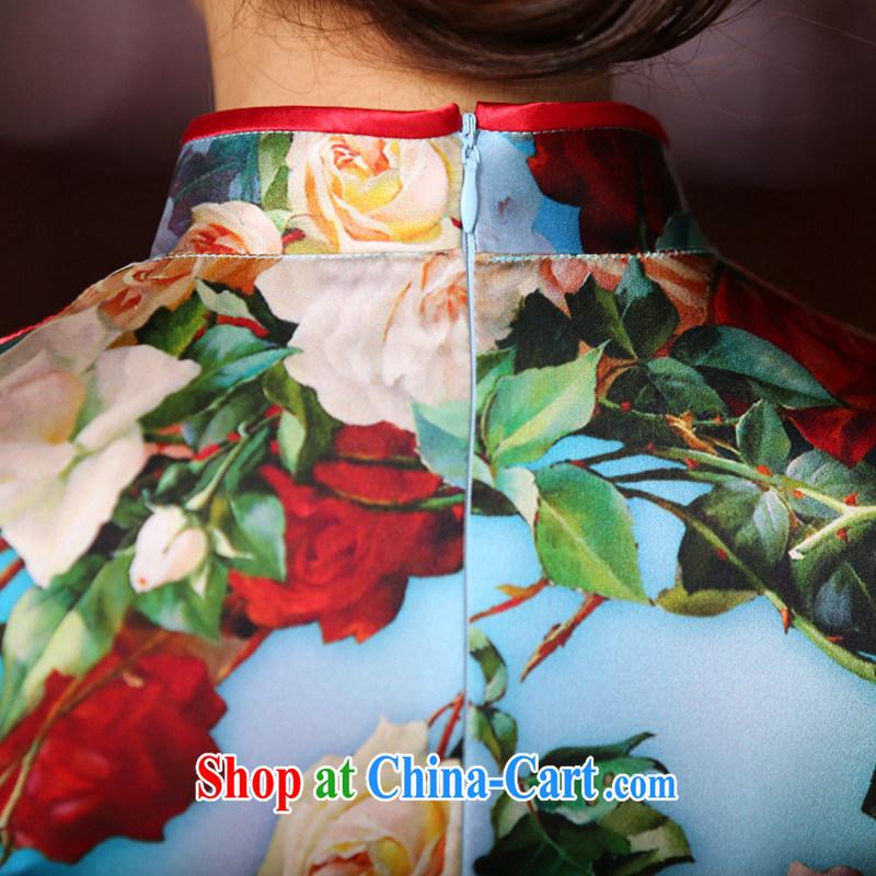The Yee-sa-jae Yeon heavy Silk Cheongsam dress summer, New China, female daily improved cheongsam dress fashion cheongsam dress SZS 2218 3XL, Yee-Windsor, shopping on the Internet