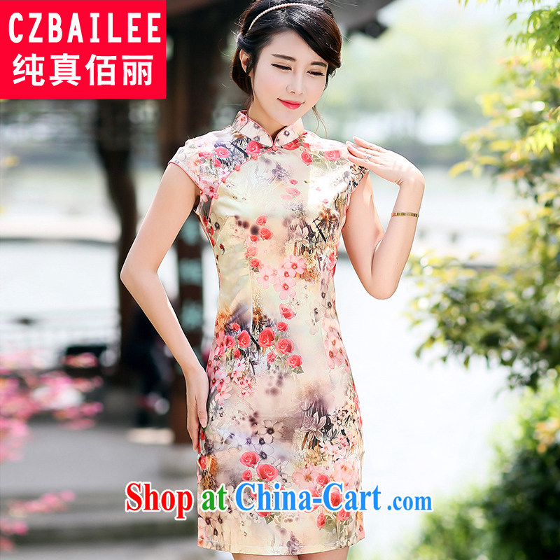 Jin Bai Lai summer dresses new and improved, Retro 2015 noble Tang Women's clothes dress short-sleeve package and dresses 4 XL