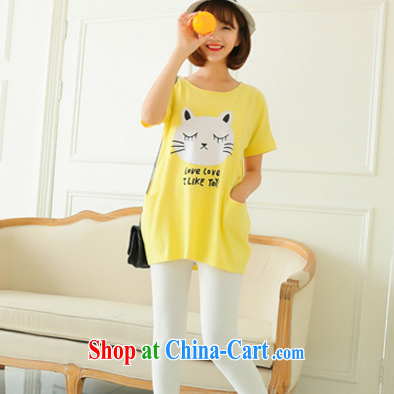 Badminton World stylish spell color summer short-sleeved breast-feeding and clothing and stylish, the breast-feeding clothing C R 3029 3391 yellow L