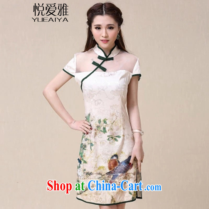 Yue loved Jacob _YUEAIYA_ 2015 summer New China wind National wind beauty and elegant dresses cheongsam dress DR 89,523 picture color XXL