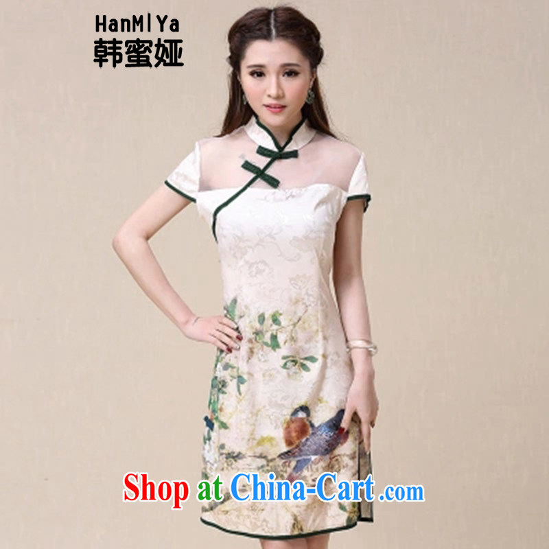 Korean honey Julia (HanMiYa) 2015 summer New China wind National wind beauty and elegant dresses cheongsam dress DR 89,523 picture color XXL