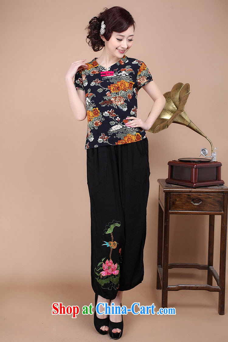 HYMN Sodom and Pratt summer 2015 new Chinese Ethnic Wind mother load leisure beauty retro Tang pants embroidered rug pants female black XXL pictures, price, brand platters! Elections are good character, the national distribution, so why buy now enjoy more preferential! Health
