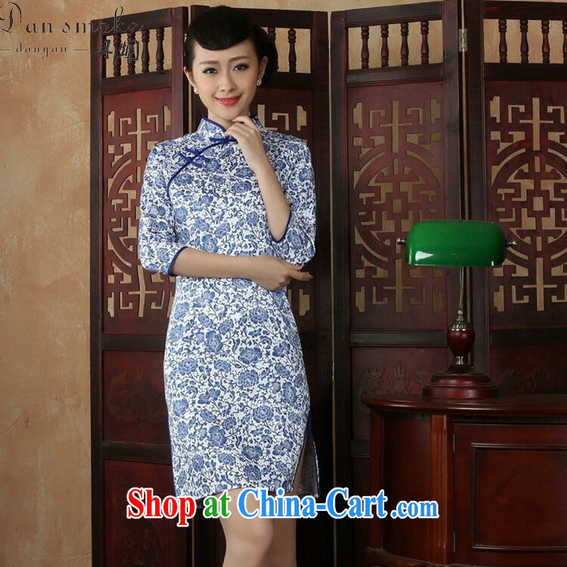 Bin Laden smoke female outfit New Chinese porcelain was the improved Chinese classical beauty cuff in everyday dresses skirts such as the color 2 XL