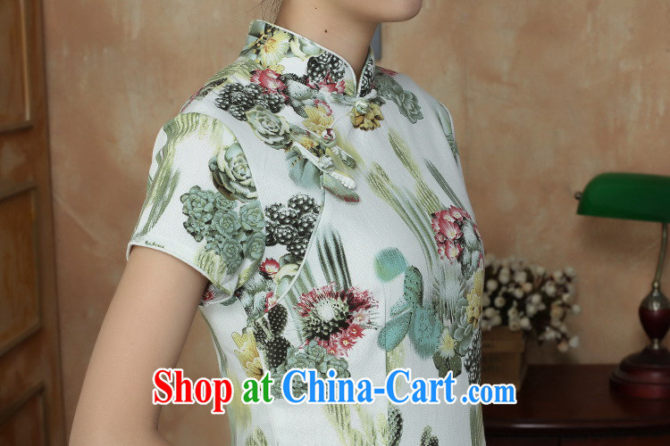 Take the Chinese improved retro dresses Women's clothes summer new, for a tight retro elegant short cheongsam as shown color 2 XL pictures, price, brand platters! Elections are good character, the national distribution, so why buy now enjoy more preferential! Health