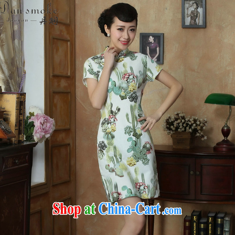 Take the Chinese improved retro dresses Women's clothes summer new, for a tight retro elegant short cheongsam as shown color 2 XL, spend figure, and shopping on the Internet