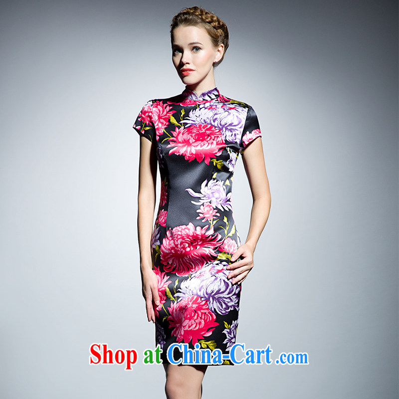 The Cayman 2015 New Silk sauna Silk Cheongsam, stamp duty for Daisy XL