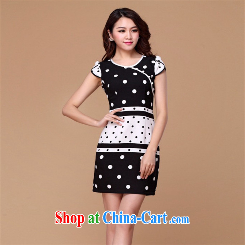 hamilton 2015 new cheongsam dress wave is cultivating improved classy and stylish short trendy improved fashion cheongsam picture color XXXL