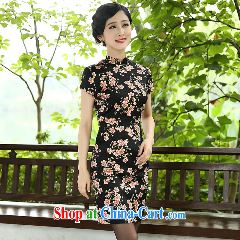 The Cayman 2015 new stylish plum robes sauna silk cultivation and elegant qipao Beautiful Stamp XL