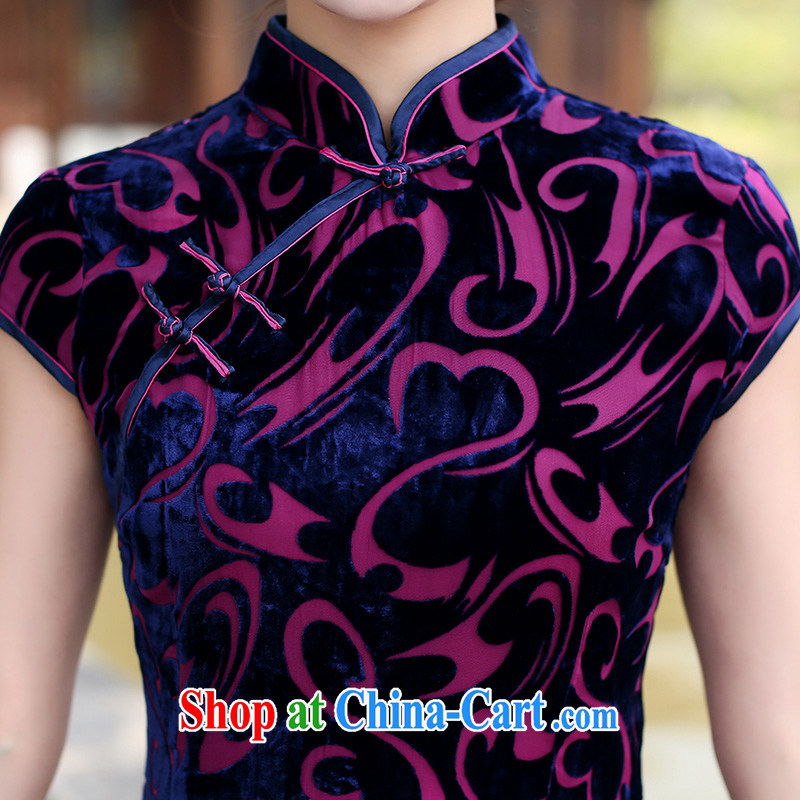 Jin Bai Lai summer improved cheongsam dress dresses classic high-end gold velour short sleeve Tang Women's clothes dresses wedding dress L idealistically Bai Lai (C . Z . BAILEE), and, on-line shopping