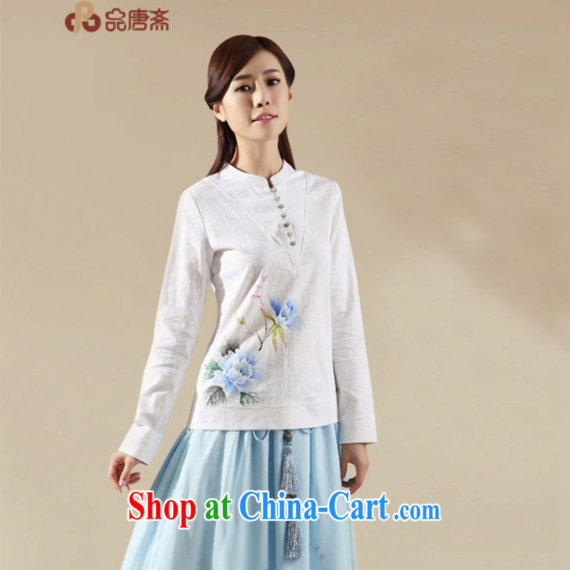 MR HENRY TANG _Id al-Fitr Tang replace Ms. spring 2015 the new liberal China wind cotton Ma female improved Han-white M