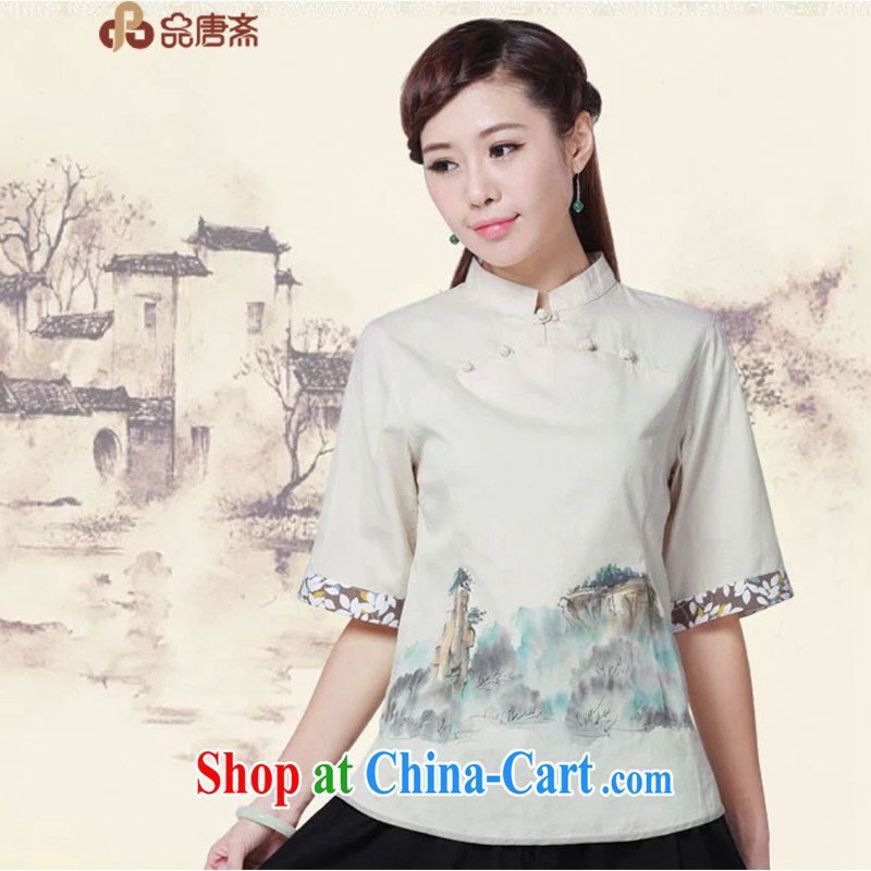 Mr Henry Tang, Id al-Fitr Chinese style dress cheongsam shirt improved Han-chinese Chinese Antique summer tea service units the tea service was originally the color XL